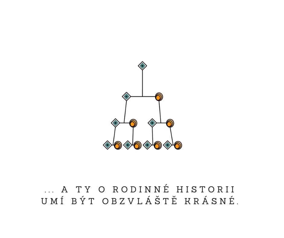 ... a ty o rodinné historii umí být obzvláště krásné.  Martina Pelantová Gena.cz PF 2021