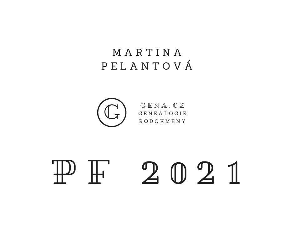 Martina Pelantová Gena.cz PF 2021